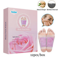 12PC Detox Foot Pads Patch Detoxify Toxins Adhesive Organic Herbal Cleansing Pad