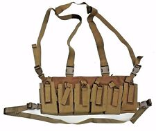 Bungee Retention Chest Rig - 6/12 Magazine - Coyote Tan - Made in USA NEW