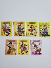 Lot of 7 Dominica Disney Postage Stamps Unused Mickey Minnie Goofy Donald Dale