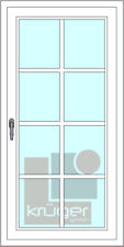 Sprossen zum Nachrüsten - Fenster - Kunststoff selbstklebend weiß, mit Kreuz /A