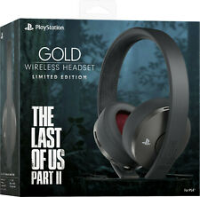 Wireless Headset Gold Last of Us II Limited Edition Sony PlayStation 4 PS4 New