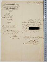 Manfredo Fanti 1859 documento comando gen. truppe Tortona Voghera Novi