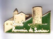 RARE PINS PIN'S .. TOURISME CHATEAU CASTLE EGLISE SAINT ROMAIN DE SURIEU 38 ~CN