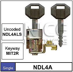 Nice Products Door Lock Mitsubishi Magna TM, TN, TP 1985-1992 NDL4A