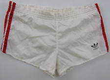 Adidas vintage 1980s white red nylon shorts Hose soccer made in West Germany D4