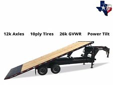 New 2018 Texas Pride 8.5' x 25' Hydraulic Power Tilt Trailer, 26k gvwr
