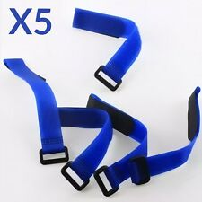 5X Azul 30cm Lipo Batería Pack Straps Correas De Amarre Reutilizable bandas Cables