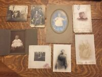 8 Vintage Cabinet Cards And Other Photos