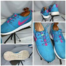 Nike Roshe Run Sz 8.5 Women Light Blue Pink Running Shoes GUC YGI G0S-232