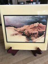 Canyon Sky Mural Large Ceramic Tile 8x 8 Pale Yellow Border
