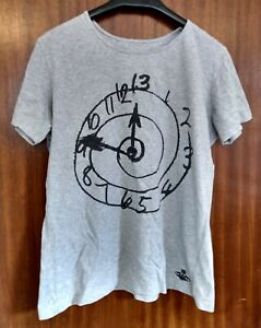 Vivienne Westwood Anglomania T-Shirt Grey Clock Design UK Size XL