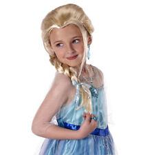 Elsa Disney Licensed  Frozen Snow Queen Blonde Braided Kids Girls Costume Wig