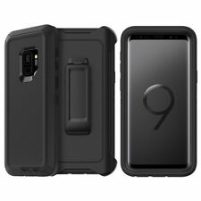 Samsung Galaxy S9 Case Cover with Holster Belt Clip Fits Otterbox Defender.