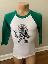 Vtg Single Stitch Iron Maiden Rock SINGLE STITCH T Shirt Raglan USA Transfer 80s