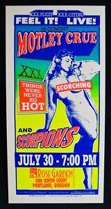 MOTLEY CRUE & SCORPIONS~1999 Silkscreen Concert Handbill Poster-ARMINSKI