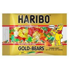 NEW SEALED HARIBO GOLD BEARS GUMMI CANDY 14 OZ BAG FREE WORLDWIDE SHIPPING