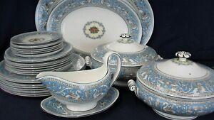 Wedgwood turquoise FLORENTINE W2714 Tureens Platters Plates YOU CHOOSE