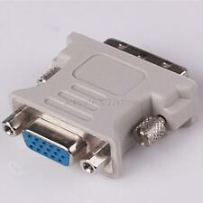 for PC Laptop DVI-D (24+5) Dual Link Male to VGA HD15 Adapter Converter  Neu