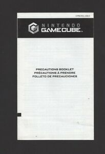 Nintendo gamecube Precautions Booklet 45749D INSERT ONLY Authentic