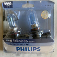Philips 9005 CVB2 Crystal Vision Ultra Bright White 65W Head Light 2 Pack