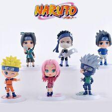 """6x NARUTO Kakashi/Naruto/Uchiha Sasuke 6cm/2.4"""" Mini PVC Figure Set No Box #1"""