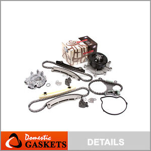 Timing Chain Kit Water Oil Pump w/o Gears for 02-10 Chrysler Dodge 3.7 226