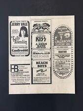 Original July 1976 Concert Ad KISS Eagles Seger Scagz Roosevelt Stadium
