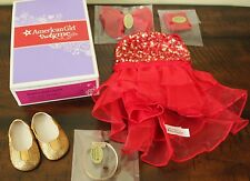 NEW American Girl Doll SPARKLY JAZZ OUTFIT Red Dance Recital Gold Shoes Gabriela