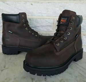 """Timberland PRO Mens 6"""" Direct Attach Soft Toe Work Boots Sz 11 Brown 38020 $140"""