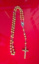 Rosario Padre Pio catena in legno