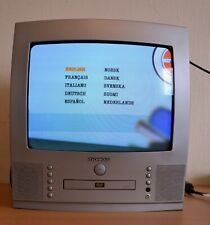"""Techwood TV/DVD Combi 14"""" CRT Retro Gaming with remote control!"""