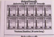Stadspost Beverwijk 2007 - Vuurtorens IJmuiden (Lighthouses) zwartdruk, proef 4