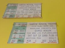 1980 George Benson Concert Ticket Stubs (2) Sunrise Musical Theater Florida