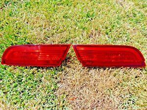 09-11 Jaguar XF Inner Trunk LED Tail Light Assemblies LH & RH Both Tested OEM
