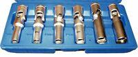 T&E tools 6Pc. Glow Plug Socket Set new 4133 kit