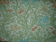 """William Morris Tela Cortina Diseño """"Iris"""" 1.2 metros (120 cm) verde/azul"""