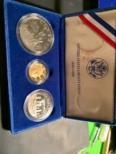 1986 U.S. Mint  Liberty Three Coin Set Silver and Gold T 24
