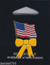 Yellow Ribbon American U.S. Flag Lapel Pin NEW