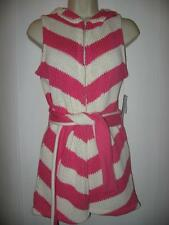 ALICE + OLIVIA Sleeveless Hooded Striped Cardigan Sweater Vest Belt Hot Pink XS