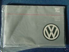 VW OWNERS MANUAL fox  1987 87 used