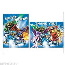 SKYLANDERS INVITATION/THANK YOU NOTES BIRTHDAY PARTY supplies FREE SHIPPING