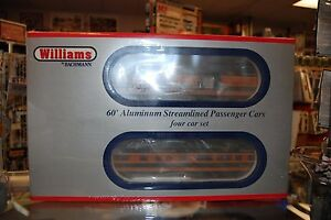 O Williams 43053 * Great Northern 60' Aluminum 4 Car Set * NIB