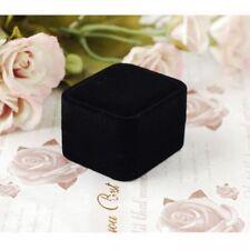 Black Velvet Wedding Pendant Necklace Jewellery Box Gift For Earrings Ring