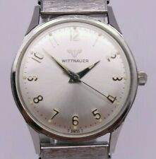 VINTAGE Wittnauer 32.5mm Stainless Steel Mens Manual Watch MINT Dial All Proof