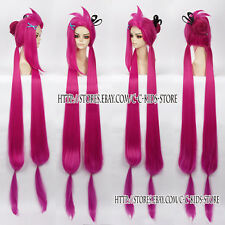 League of Legends Loose Cannon Jinx Costume Cosplay Wig New Versions 150CM Pink