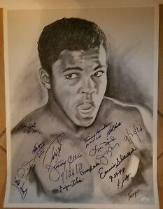 Muhammad Ali 20x24 print signed by Holmes Spinks Shavers Lyle Wepner +++  JSA