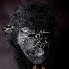 Latex Full Head Overhead Gorilla Masquerade Fancy Dress Up Halloween Mask Props