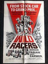 "Wild Racers - Original One Sheet Movie Poster 1968 - 27"" x 41"" EX+/NM"