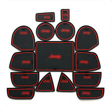 NEW 15PCS Interior Door Mat Cup Pads Holder For Jeep Grand Cherokee 2011-2015