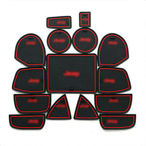 Interior Door Mat Cup Pads Holder 15PCS For Jeep Grand Cherokee 2011-2014